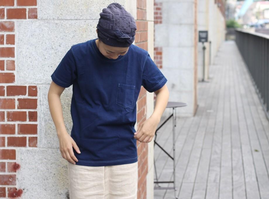 《受注生産》藍染ポケットTシャツ