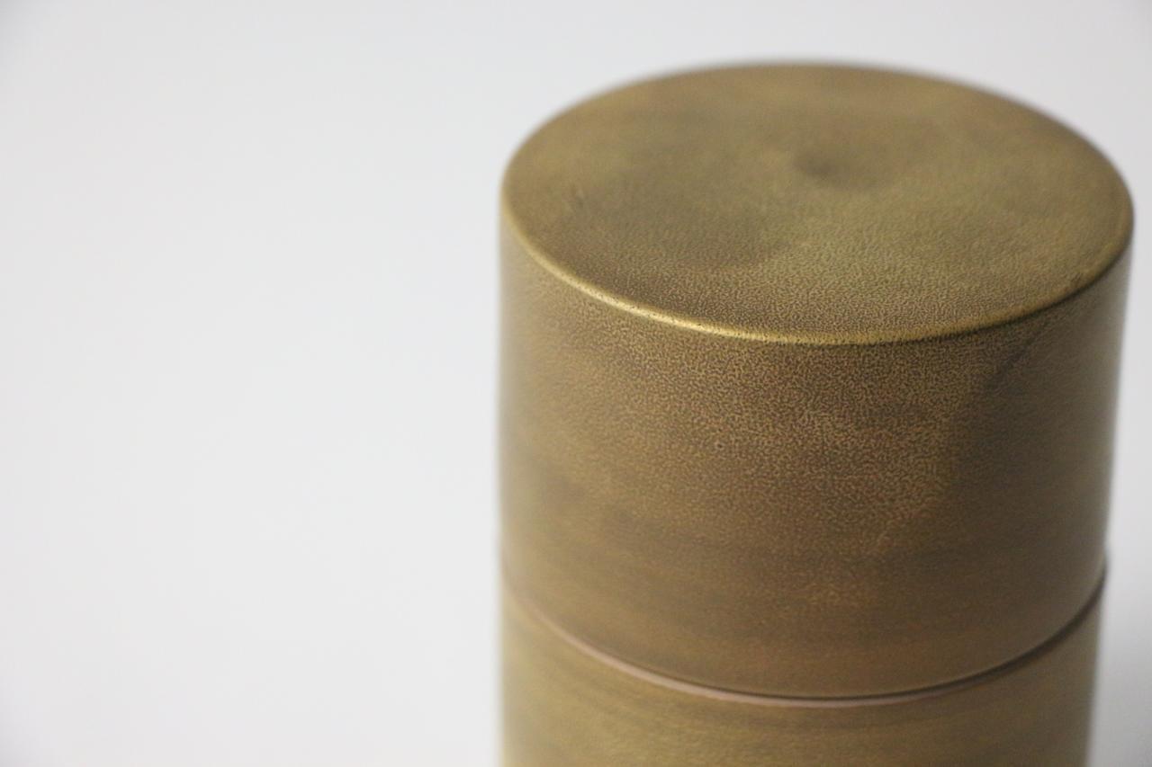 吉右ヱ門窯 「茶筒(円筒型蓋物)」