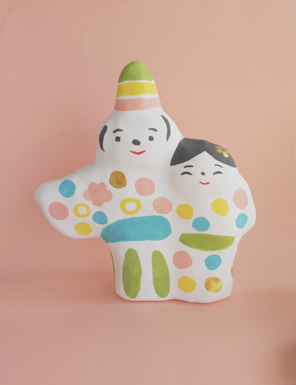 張り子 春のひな人形 (ヘ) | iichi ハンドメイド・クラフト作品・手 ...