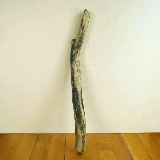 温泉流木 黒いラインが美しいおしゃれ棒流木001長 インテリア素材
