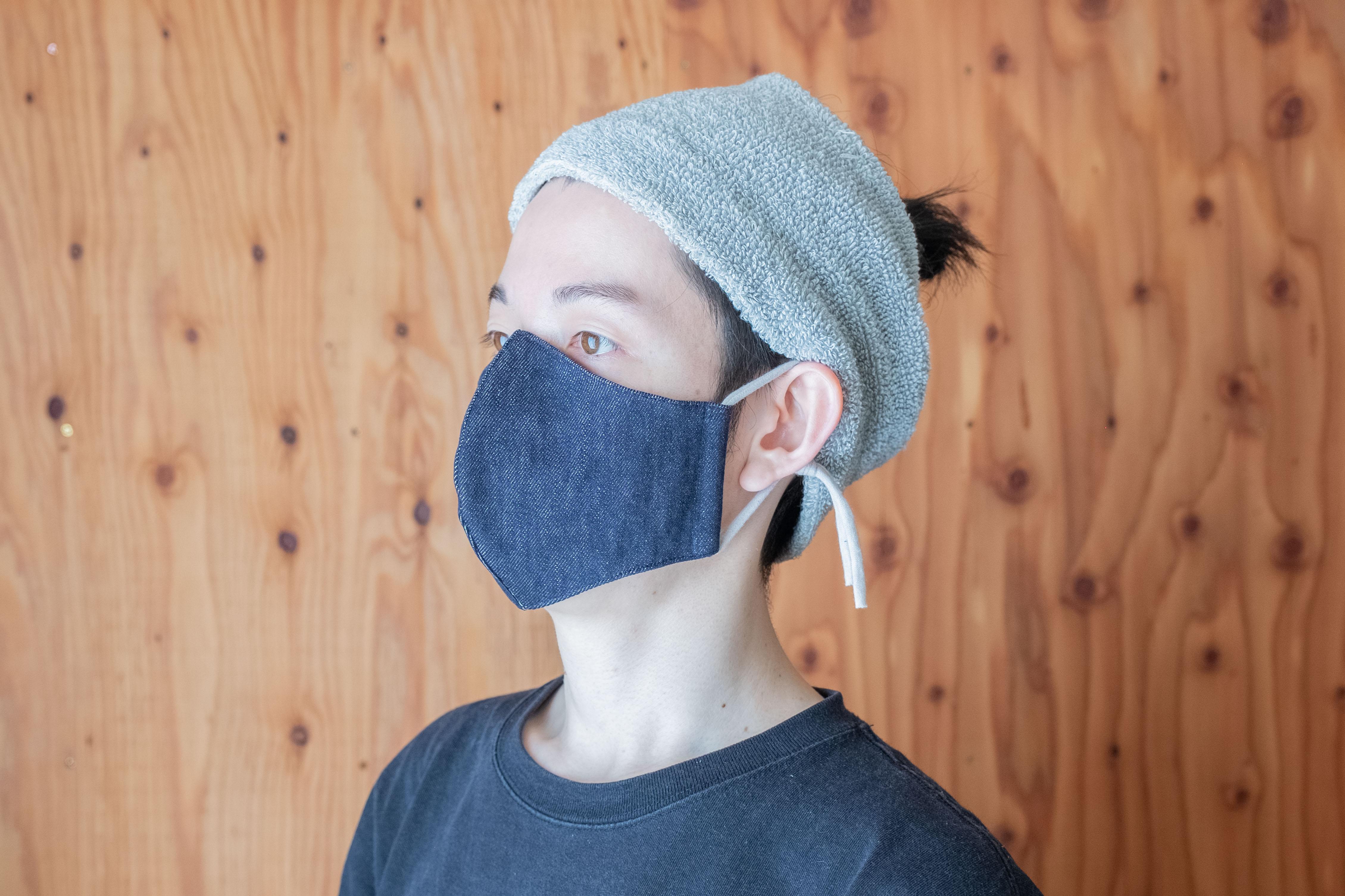 手作り マスク ポケット