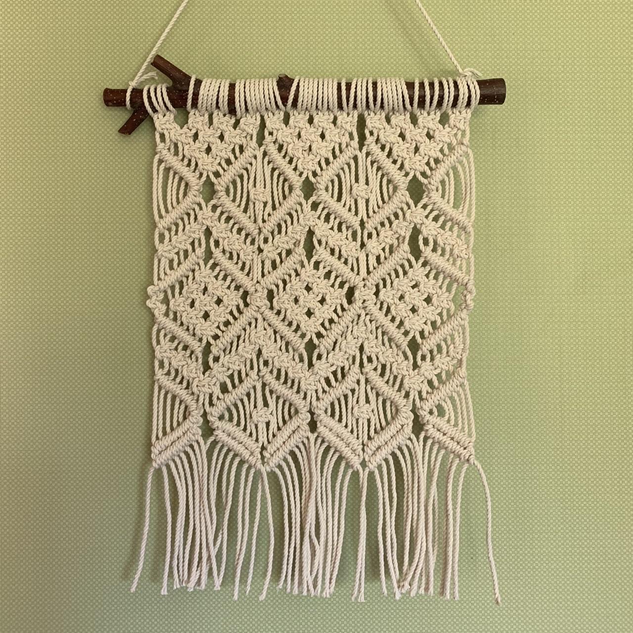 編み マクラメ マクラメプラントハンガーの作り方