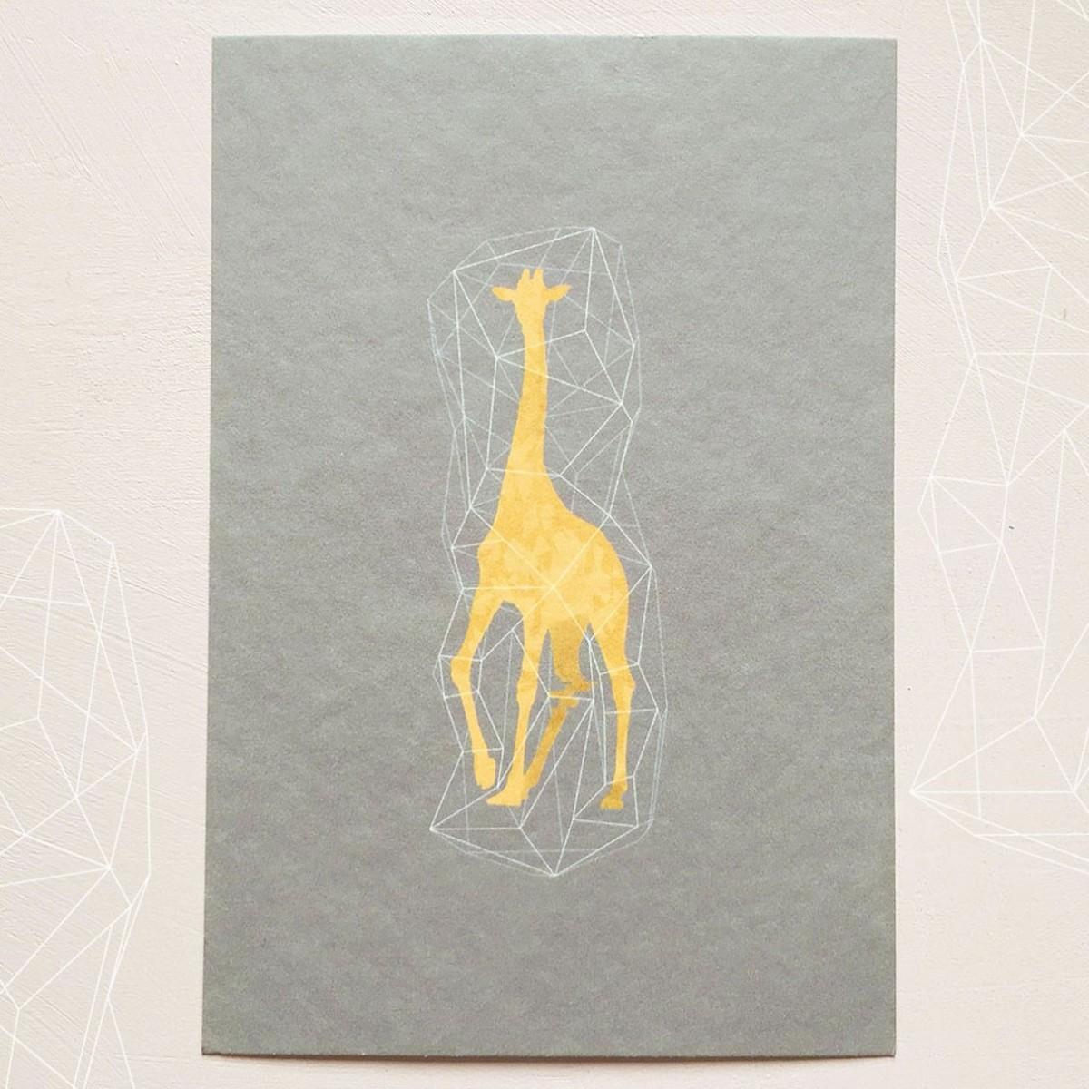 キリンのポストカード 3枚入り Iichi ハンドメイド クラフト作品 手仕事品の通販