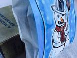 限定☆ドイツ パン屋さんの雪だるまマルシェ袋 10枚の画像