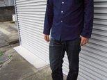 吉兆藍木綿シャツ(紺藍)の画像