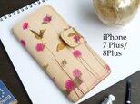iPhone7Plus/8Plus アイフォンケース 手帳型(ノスタルジック ゴンフレナ) 牛革 ILL-1139の画像