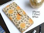 iPhone7Plus/8Plus アイフォンケース 手帳型(ヴィンテージ マリーゴールド) 牛革 ILL-1139の画像