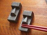 モアイっぽい箸置き ペア 2個セット 送料込み価格の画像