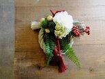 お正月のしめ縄飾り■紅白■ラグジュアリーデザインの画像