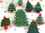 アメリカ ボタンガローア ボタン8個セット-クリスマスツリー B-0961の画像