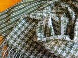 手織のストール 常磐緑(ときわみどり)の画像