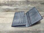 男の本革Slim長財布 --- 希少国産牛革ロロマ [ブルー]の画像