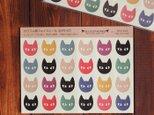 カラフル猫フェイスシール 13.CATS.WORKS×YO-COの画像