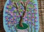 満開*藤の鉢植えブローチの画像