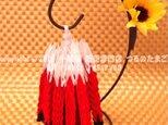 【速達】『子鶴の姉』(スタンド付 千羽鶴 200羽 完成品 / 赤富士 / 送料無料)の画像