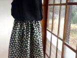 お花畑のギャザースカートの画像
