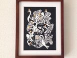童話切り絵「野の白鳥」の画像