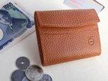 革の小さなお財布 #オレンジの画像