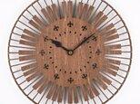 木の壁掛け時計E 鍵盤(木製ウォールクロック)の画像