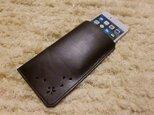 「HANABIRA」シリーズ・ゴートスキン・iPhone7・シンプルレザーケース・004の画像
