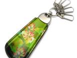携帯靴べらキーホルダー 牛革製 アートシューホーン(蓮の花)の画像