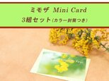 ミモザのミニカード(カラー封筒つき) 3組セット の画像