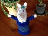 北欧風✩シックなニットのお馬さんの編みぐるみの画像