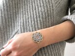 tatting lace bracelet【circle】の画像