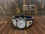 ▲STITCH あそびも仕事も◎インディゴブルー「ステッチラン 腕時計」メンズライク(SRW-NNW-NS)の画像