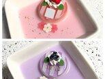 選べる2種類!イニシャル入り☆flowerゼリーケーキのアクセサリートレイの画像