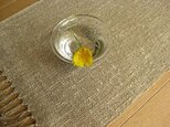 手織り麻のテーブルセンター(4)の画像