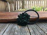 革花のヘアゴム MSPサイズ  深緑の画像