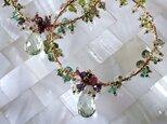 Green amethyst earringsの画像