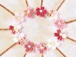 ヘアピン*桜ひとひら -つまみ細工-の画像