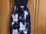 涼しい浴衣のスカート*うす紫の蝶の画像