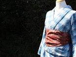 絹つむぎ大人の兵児帯(赤茶)の画像