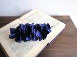 【受注生産】花びらのバレッタ■ふんわりブーケシルエット■ダークブルーの画像