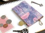 ファスナーポケット付キーケース(ドリーミー ジェリーフィッシュ)革 レディース メンズILL-1122の画像