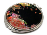 コンパクトミラー 天然貝仕様(薔薇と果実に誘われて)<螺鈿アート>の画像