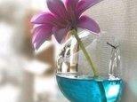 ガラスのインテリア。。。壁掛け花瓶(10cm) テラリウムにも!の画像