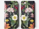 *Flower*手帳型 iPhone 7 / 7+ / SE / 6 / 6S / 6+/ 6S /5 ケース B112の画像