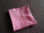 リネンダブルガーゼの小さめハンカチ(ピンク)の画像