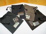 ◆粋な和柄の巾着袋 ◆ちりめん細工小物◆父の日プレゼントの画像
