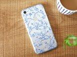iPhoneクリアケース/木の実柄ネイビーラインの画像