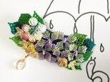 バレッタ Bouquet  (紫陽花)の画像