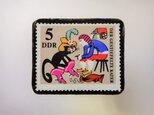 ドイツ 長靴をはいた猫切手ブローチ 2815の画像