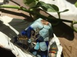 ラピスラズリ☆ラリマーのピラミッド型オルゴナイトの画像