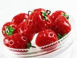 送料無料 チャーム フルーツ イチゴ 10個 17mmx12mm 苺 いちご アクセサリー パーツ ストロベリー AP0233の画像