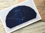 夜空の図形 〜星座のカードの画像