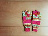 R 様オーダー分 ピンク系段染めの手袋の画像